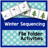 Winter Themed Sequencing File Folder Activities