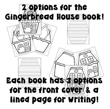 Winter Themed Shaped Books (Christmas Tree, Gingerbread House, Snowman)