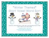 Winter Themed Short Vowel Word Sort