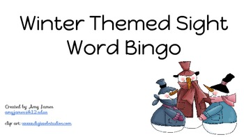 Winter Themed Sight Word Bingo