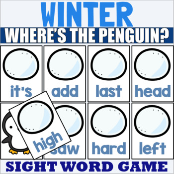 Winter Themed Sight Word Game for Fry 1-300