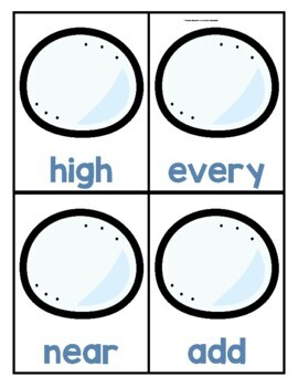 Winter Themed Sight Word Game for Fry 3rd Hundred