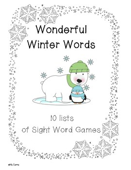 Winter Themed Sight Word Games