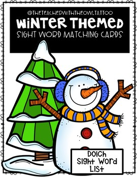 Winter Themed Sight Word Matching