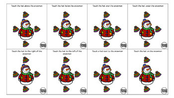 Winter Themed Spatial Direction Cards Freebie
