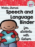 Winter Themed Speech & Language Binder: For Students with Autism