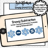 Winter Themed Subtraction Activities For GOOGLE CLASSROOM