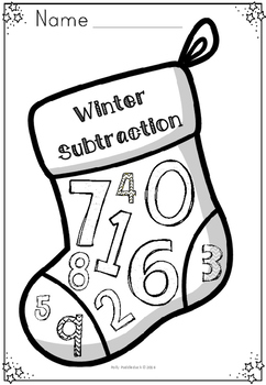 Winter Themed Subtraction Activity Book