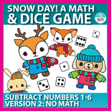 Winter Themed Subtraction Dice Game