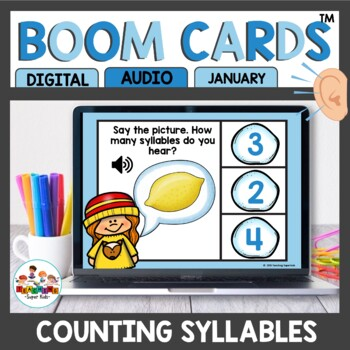 Winter Themed Syllables Boom Cards