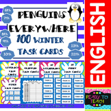 Winter Themed Task Cards- 100 Task Cards for Elementary Students