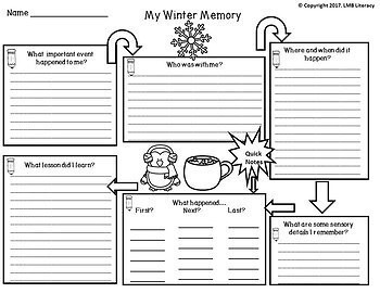 Winter Themed Task Cards-For Writing