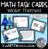 Math Task Cards - Winter - Word Problems, Place Value, Num