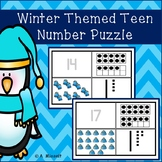 Winter Themed Teen Number Puzzles