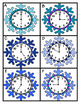 Winter Themed Telling Time Task Cards and Match Game