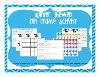 Winter Themed Ten Frame Activity