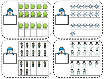 Winter Themed Ten Frames