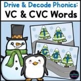 CVC and VC Words Activity Bundle {Winter Theme}