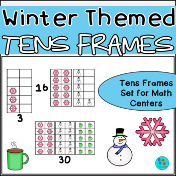 Winter Themed Vertical Tens Frames Pack