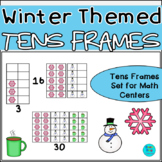 Winter Themed Vertical Tens Frames Pack