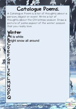 Winter Themed Visual Creative Writing and Poetry Unit.