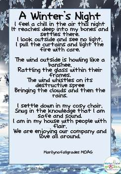 Winter Poetry & Writing Unit – Writing prompts, poetry activities & worksheets.