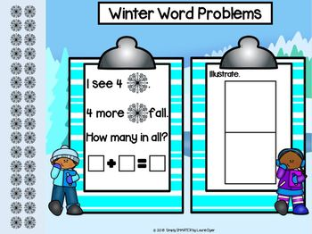 Winter Themed Word Problem Activities For GOOGLE CLASSROOM