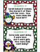 Winter Themed Word Problem Cards and Worksheet FREEBIE