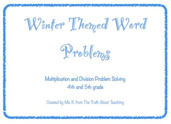 Winter Themed Word Problems