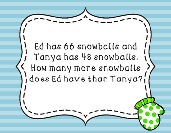 Winter Themed Word Problems 2.OA.A.1