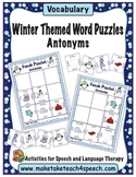 Winter Themed Word Puzzles- Antonyms