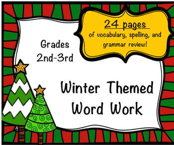 Winter Themed Word Work:  Perfect for Centers.  No Prep.