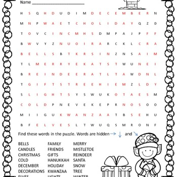 Winter Themed Wordsearches