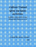 Winter Themed Write the Room Addition and Subtraction Facts to 10