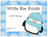 Winter-Themed Write the Room CVC Words