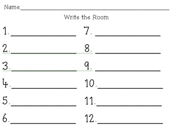 Winter-Themed Write the Room CVC Words