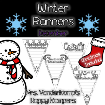 Winter Themed Writing Banners [[Christmas Included!]]