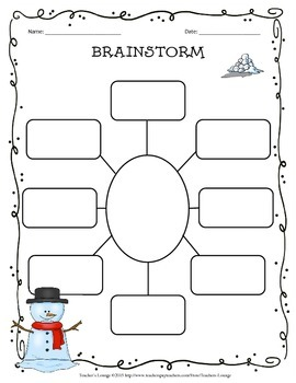 Winter Themed Writing Bundle : Prompts, Graphic Organizers, Posters + More!