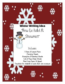 Winter Themed Writing Lesson Plans for 19 School Days!
