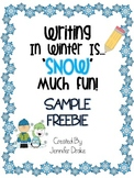 Winter Themed Writing Paper SAMPLER FREEBIE!
