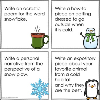 Winter Themed Writing Prompts
