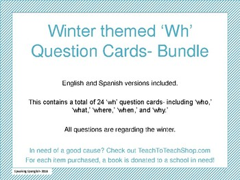 Winter Themed 'wh' quesitons cards- BUNDLE