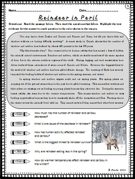 Winter Themed Leveled Informational Texts - Find the Evidence!