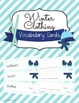 Winter Themes and Holidays Vocabulary Card Bundle