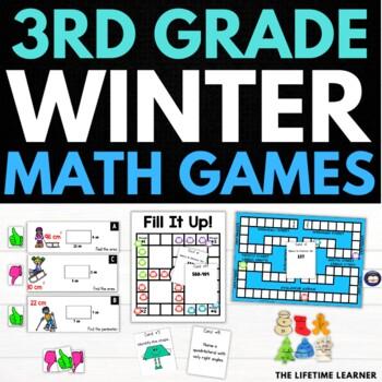 Winter Third Grade Math Puzzles