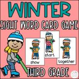 Winter Third Grade Sight Word Game