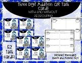 Winter Three Digit Addition QR Code Task Cards