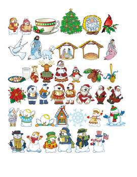 Winter Thyme Holiday Graphics Clip Art