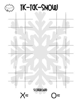 Winter Tic Tac SNOW Freebie--Multiplication