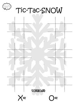 Winter Tic Tac SNOW Freebie--Subtraction